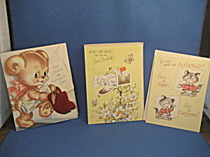 Three Vintage Greeting Cards
