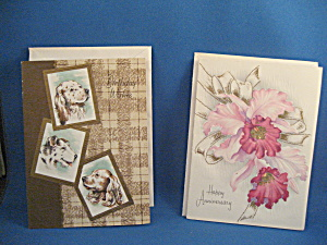 Two Vintage Greeting Cards