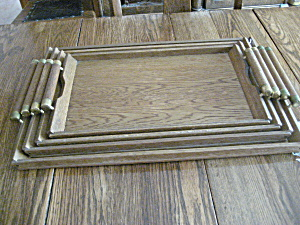 Four Stack-able Wooden Trays