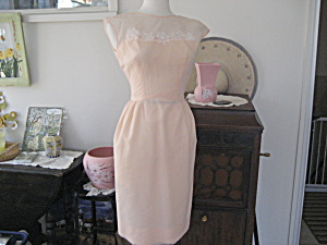 Peach Dress With Matching Long Skirt