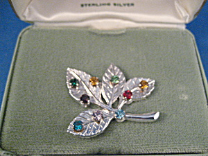 Anson Family Sterling Silver Leaf Brooch