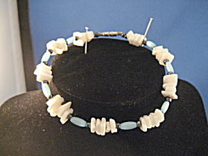 Hand Made Puca Bead Blue Bracelet