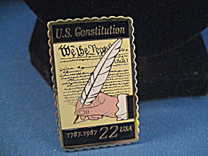 Us Constitution Metal Stamp Pin