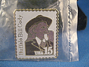 Buffalo Bill Cody 15 Cent Stamp Pin