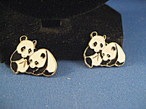 Two Small Panda Souvenir Pins From China