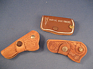 Three Leather Advertising Key Rings