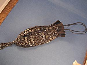 Contemporary Black Beaded Bag  (Image1)