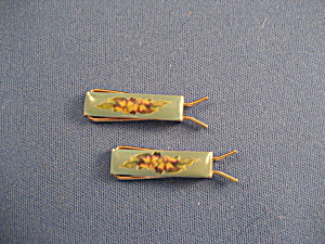 Tiny Enamel Barrettes