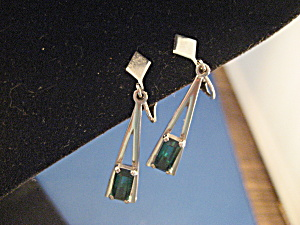 Avon Faux Emerald Earrings