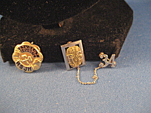 1934 Rock Springs High School Pin And Student Council Pins