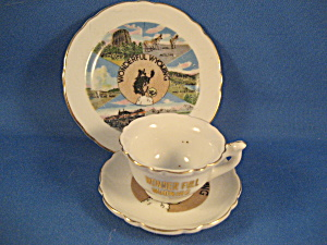 Miniature Cup And Saucer And Plate From Wyoming