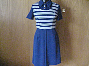 1970s Lacoste Polyester Dress