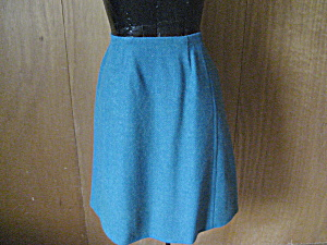 Green Wool Skirt