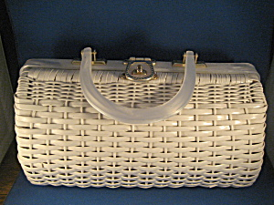 White Straw Purse
