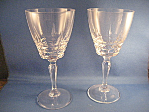 Two D'arques Cristal Wine Glasses