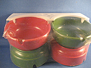 Plastic Ash Tray Set