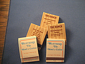 Westward Ho And The Ranch Matchbooks
