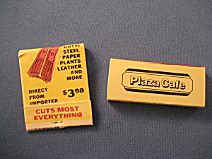 Super Shear And Plaza Cafe Matchbook