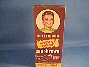 Sani-brown Shoe Polish In Original Box
