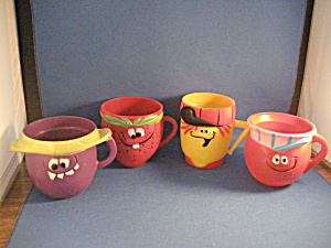 Vintage Set Of Four Pillsbury Mugs