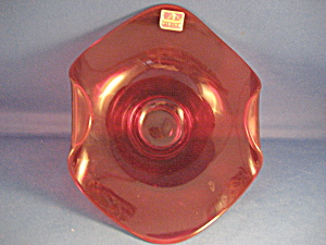 Red Glass Viking Candy Dish