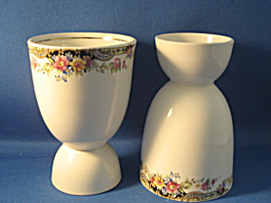 Flowered Double Egg Cups
