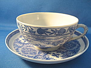 Blue China Cup And Saucer Set