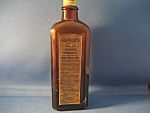 Glover's Mange Medicine Bottle
