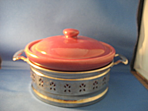 Weller Casserole Dish With Metal Stand