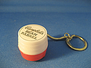 Campbell's Bean Barrel Key Chain And Penny Holder