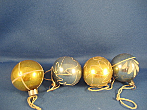 Four Very Old Glass Ornaments