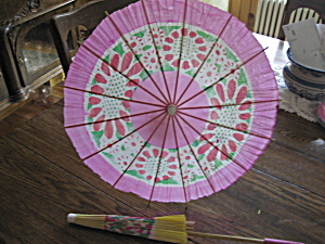 Two Paper Umbrellas