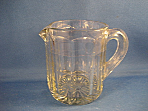 Old Pressed Glass Syrup Pitcher