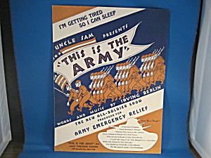 Irving Berlin's I'm Getting Tired So I Can Sleep Sheet Music