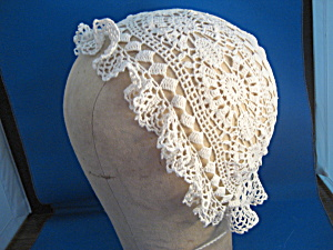 Hand Crocheted Baby Bonnet