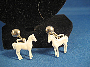 British Plastic Horse Earrings