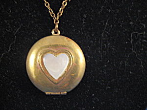 Gold And Mother Of Pearl Locket