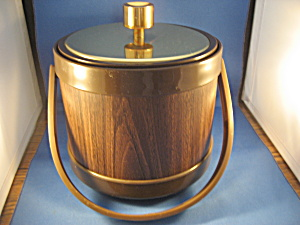 Gold And Brown Ice Bucket