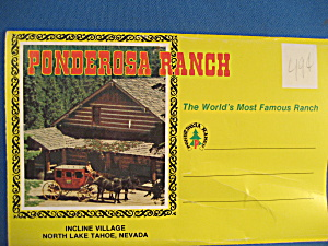 Souvenir Post Cards From Bonanza Ponderosa Ranch