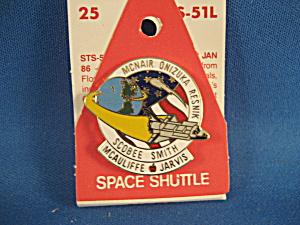Challenger Mission Sts-51l Nasa Pin