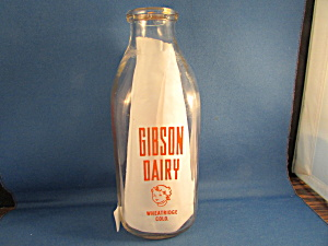 Milk Bottle From The Gibson Dairy In Wheatridge Colo.