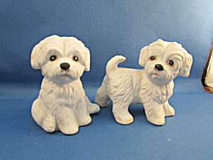 Two Homco Dog Figurines