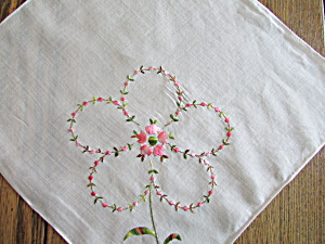 Embroidered Flower Handkerchief (Image1)