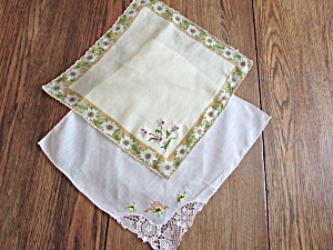 Two Flowered Handkerchief