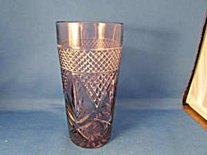 Sun Purpled Cut Glass Drinking Glass