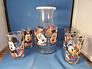 Anchor Hocking Disney Juice Pitcher And Glasses