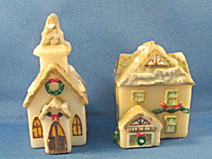 Church And House Christmas Candles