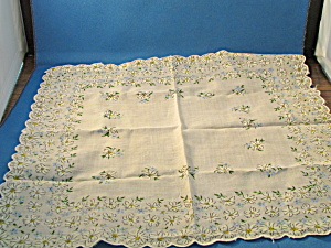 Tan Flowered Handkerchief