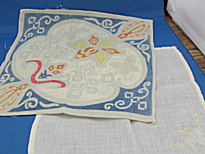 Two Linen Handkerchief
