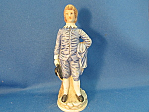 Hand Pained Blue Boy Figurine